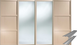 MAPLE SHAKER SLIDING WARDROBE DOOR SET