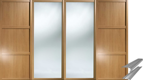 SHAKER STYLE SLIDING WARDROBE DOORS AND TRACKS