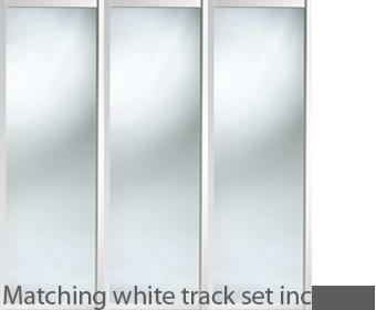 Shaker Style White Frame Mirror Door Amp Track Set