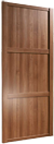 walnut panelled door