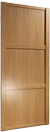 914 oak paneled door