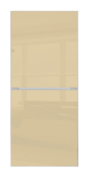 2 PANEL MINIMALIST DOOR- CREAM GLASS