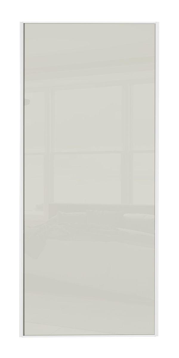Classic Single panel White frame Soft white glass panel door