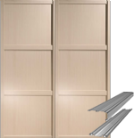 Shaker Style Maple Panel Door & Track Set to suit an opening width of 1193mm