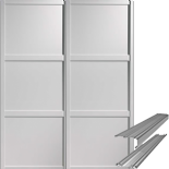 Shaker Style White Panel Door & Track Set to suit an opening width of 1498mm