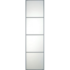 "4 Panel Silver Frame Mirror Door 610mm (24"") 