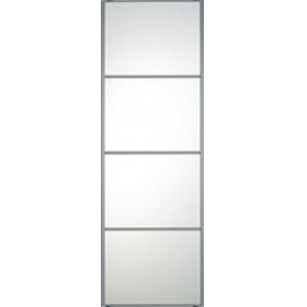 "4 Panel Silver Frame Mirror Door 762mm (30"") 