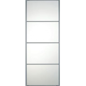 "4 Panel Silver Frame Mirror Door 914mm (36"") 